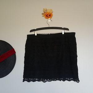 ⚡Flash Sale⚡AE Crochet Lace Mini Skirt
